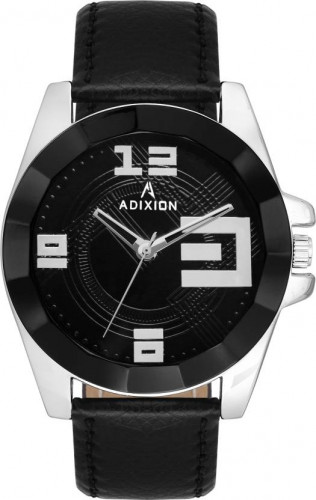 ADIXION 9534SLA1 New Leather Strep Stainless Steel Youth Watch Watch