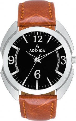 ADIXION 3117SL01 New Leather Strep Stainless Steel Youth Watch Watch