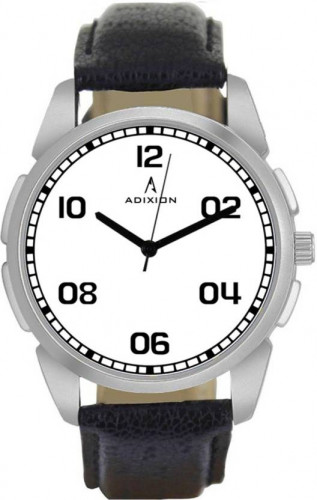 ADIXION 9520SL02 New Leather Strep Stainless Steel Youth Watch Watch