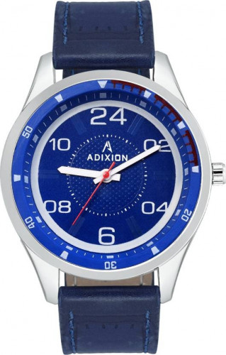 ADIXION 9533SL04 New Leather Strep Stainless Steel Youth Watch Watch