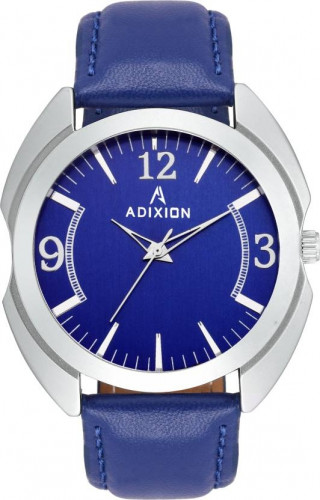 ADIXION 3117SL04 New Leather Strep Stainless Steel Youth Watch Watch