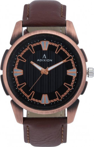 ADIXION 9520KL01 New Stainless Steel watch with Genuine Leather Strep Watch