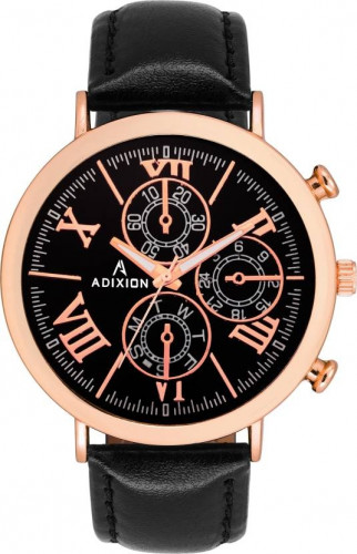 ADIXION 9537SLA01 New Leather Strep Chronograph pattern Stainless Steel Youth Watch Watch