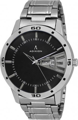 ADIXION 9519SMDD01 New Stainless Steel Day & Date Series Youth Wrist Watch Watch