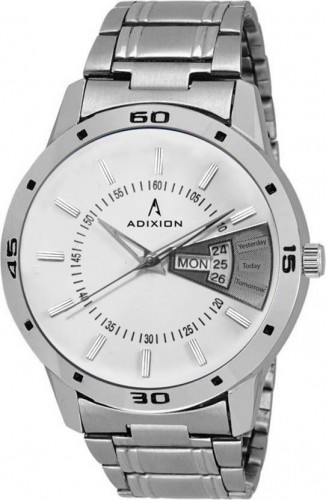 ADIXION 9519SMDD02 New Stainless Steel Day & Date Series Youth Wrist Watch Watch
