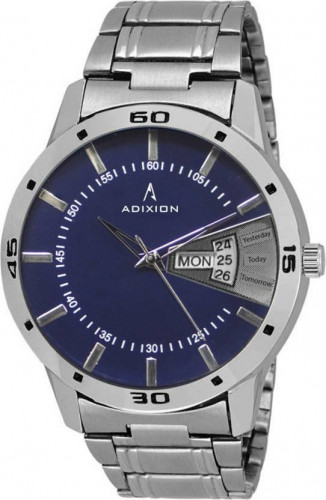 ADIXION 9519SMDD04 New Stainless Steel Day & Date Series Youth Wrist Watch Watch