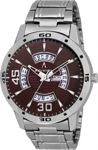 ADIXION 9519SMDT5 New Stainless Steel Day & Date Series Youth Wrist Watch Watch