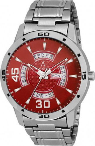 ADIXION 9519SMDT8 New Stainless Steel Day & Date Series Youth Wrist Watch Watch