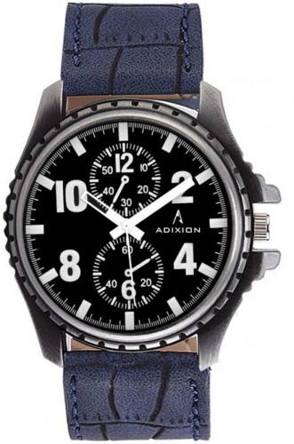 ADIXION 133SL01 New Chronograph Pattern watch with Genuine Leather Strep. Watch