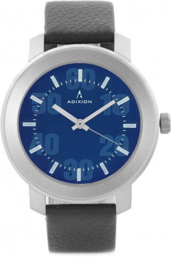 ADIXION 3120SL04 New Black Strap Blue Dial watch With Leather Watch