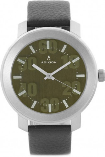 ADIXION 3120SL05 New Stainless Steel watch with Genuine Leather Strep. Watch