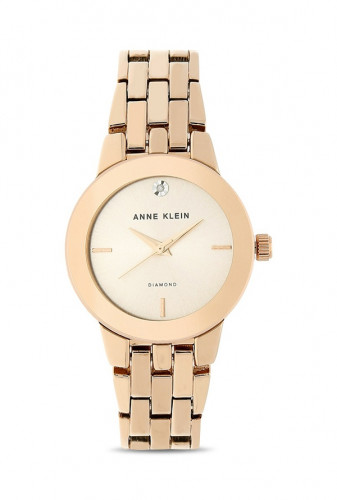 Anne Klein Rose Gold Sunray Dial Analog Watch