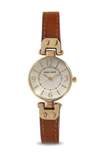 Anne Klein Champagne Sunray Dial Analog Watch