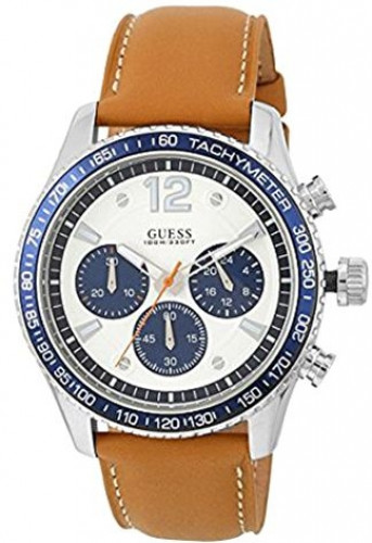 Guess W0970G1 Men Chronograph Leather Watch