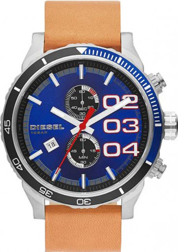 Diesel Double Down Leather Chronograph Men's Watch DZ4322