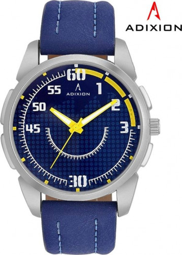 ADIXION 9520SL04 NEW BLUE STRAP WATCH WITH GENUINE LEATHER WATCH