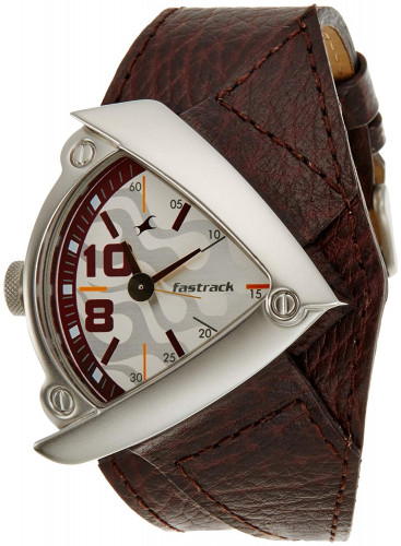 Fastrack Bikers Analog White Dial Men's Watch