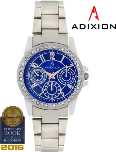 ADIXION 9401SM04 New Stainless Steel Bracelet watch with Chronograph Pattern. Watch