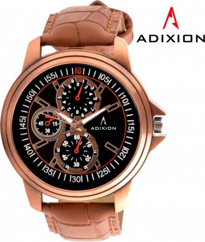 ADIXION 9507WL01 New Brown Strap watch with Chronograph Pattern Hybrid Watch