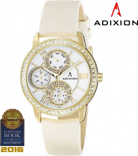 ADIXION 9743YL03 New Series Genuine Leather Watch with Chronograph Pattern Watch