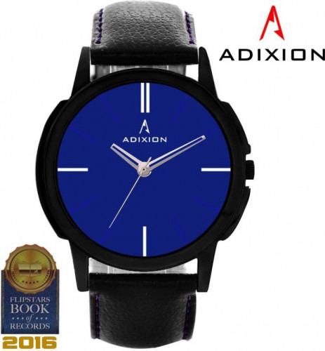 ADIXION 9502NL04 New Black Strep watch with Genuine Leather Watch