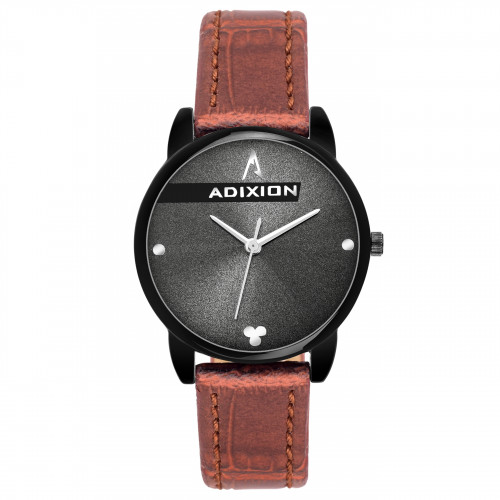 Adixion AD2608NL5A2 New Stainless Steel watch with Genuine Leather Strep