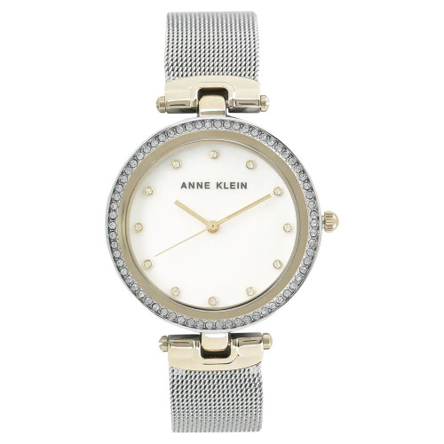 Anne Klein White Mother of Pearl Analog Watch