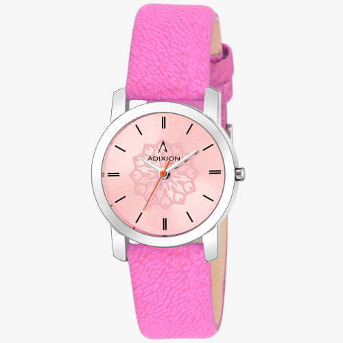 Adixion AD208SL06A New Stainless Steel watch with Genuine Leather Strep.