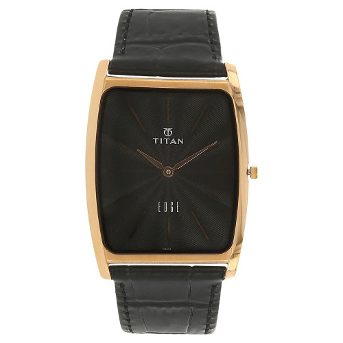 Titan Edge Analog Black Dial Men's Watch