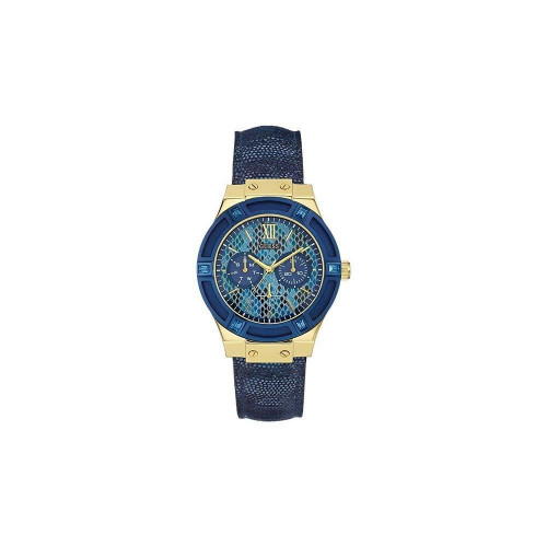 GUESS JET SETTER BLUE BAND WITH BLUE ENAMEL DIAL ANALOG WOMENS WATCH