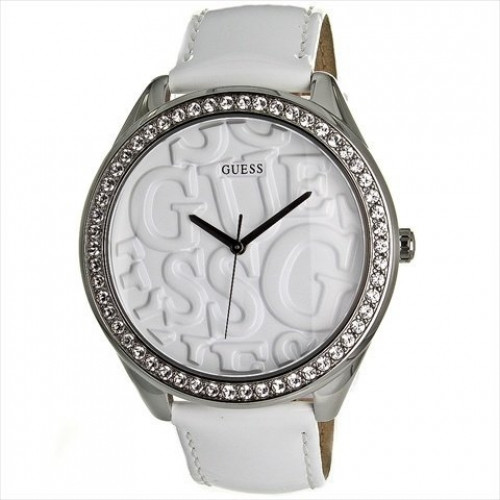 Guess Analog White Dial Women's Watch