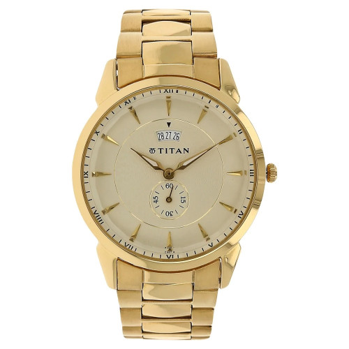 Titan NF1521YM02 Said Second Date Display Available Tycoon Watch