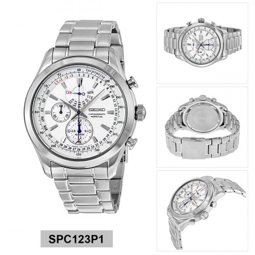 Seiko Dress Chronograph White Dial Men's Watch