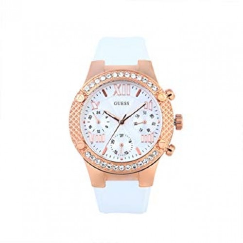 Guess W0773L6 Womens Chronograph Silicone Watch