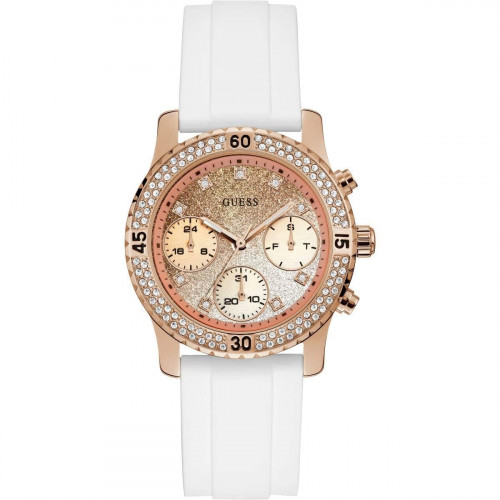 Guess Confetti Analog Rose Gold Dial Women's Watch