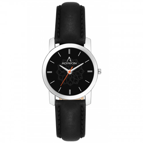 Adixion AD208SL101 New Stainless Steel watch with Genuine Leather Strep.