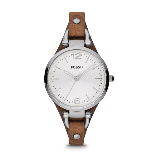 Fossil ES3060 Georgia Analog Silver Dial Women's Watch