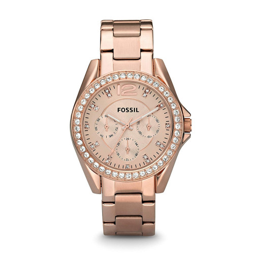 Fossil ES2811  Riley Analog Rose Gold Dial Women's Watch