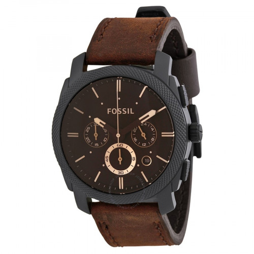 Fossil Machine Analog Brown Dial Men's Watch