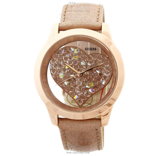 GUESS Glitz Analog Beige Dial Women's Watch