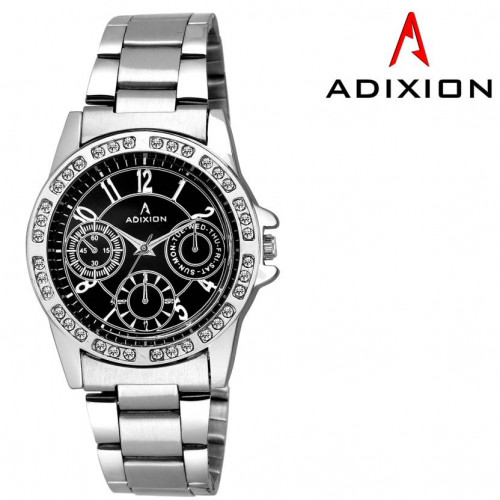 ADIXION 9401SM01 New Chronograph Pattern Stainless Steel Bracelet Watch Watch
