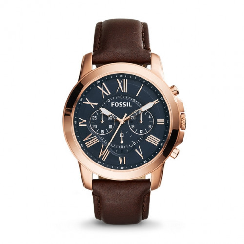 Fossil FS5068 Grant Analog Blue Dial Men's Watch