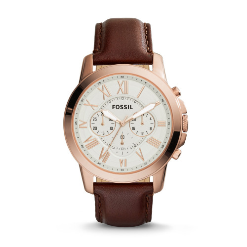 Fossil FS4991 Grant Chronograph Beige Dial Men's Watch