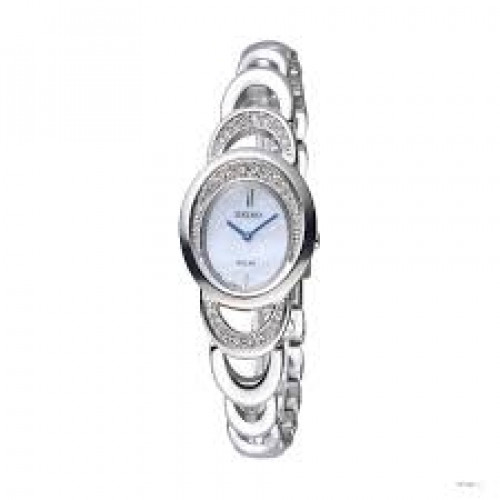 Seiko Solar Analog Mother of Pearl Dial Women's Watch