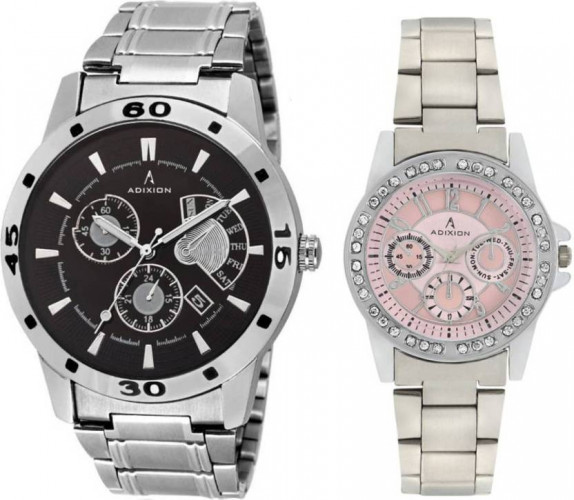 ADIXION 9519SMC19401SM06 New Chronograph pattern Combo Stainless Steel Series Youth Wrist Watch Hybrid Watch