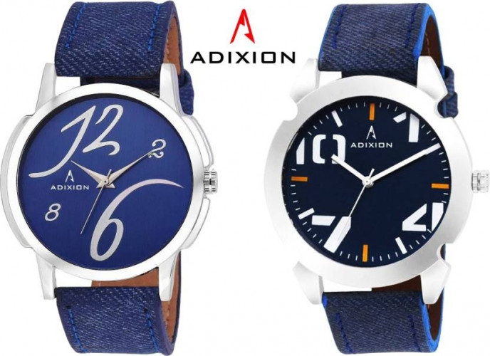ADIXION 10159501SLB404 New COMBO COLLECTION Leather Strap Watch Watch