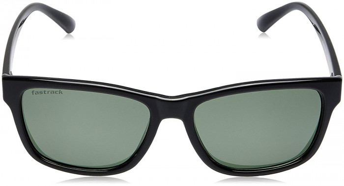 Fastrack P357BK5P|41 UV  Protected Wayfarer Men's Sunglasses Black Color