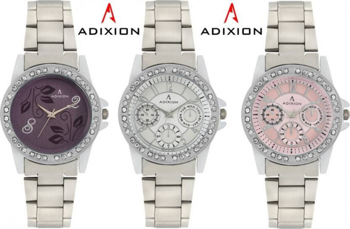 ADIXION 9401SM0206 New Chronograph Pattern Stainless Steel Watch