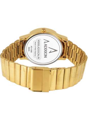 ADIXION  AD1580YM011 Golden  DAY & DATE  Stainless Steel Watch