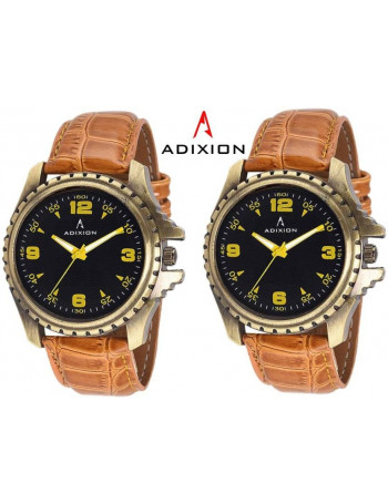 ADIXION 133GL0101 New Tan Colour Leather Strap Antique Bezel watch Watch